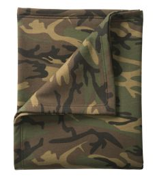 Port & Co BP78C mpany   Core Fleece Camo Sweatshirt Blanket