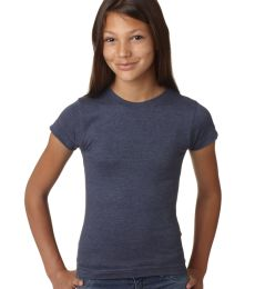 2605 LA T Girls' Fine Jersey Vintage Longer Length T-Shirt