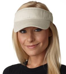 BZ101 Adams Cotton Twill Breeze Twill Visor