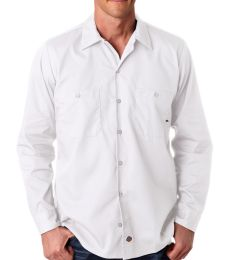 LL535 Dickies Men's Long-Sleeve Industrial Poplin Work Shirt
