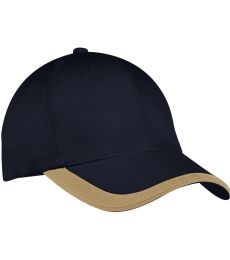 Port Authority C867    Contrast Stripe Sandwich Bill Cap