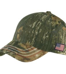 Port Authority C909    Americana Contrast Stitch Camouflage Cap