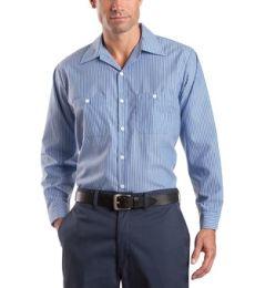 CS10 Red Kap - Long Sleeve Striped Industrial Work Shirt