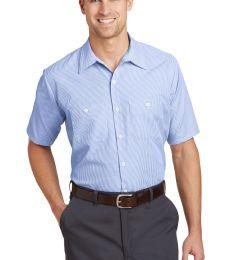 CS20 Red Kap - Short Sleeve Striped Industrial Work Shirt