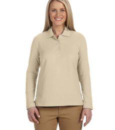 D110W Devon & Jones Ladies' Pima Pique Long-Sleeve Polo