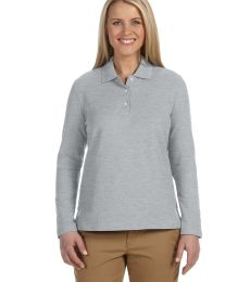 D110W Devon & Jones Ladies' Pima Pique Long-Sleeve Polo