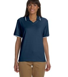 D140W Devon & Jones Ladies' Tipped Perfect Pima Interlock Polo