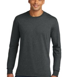 DM132 District Made Mens Perfect Tri Long Sleeve Crew Tee