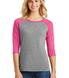 DM136L District Made Ladies Perfect Tri-Blend Raglan