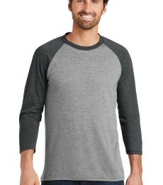 DM136 District Made Mens Perfect Tri-Blend Raglan
