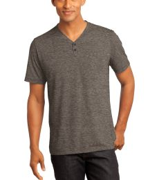 236 DM342 CLOSEOUT District Made - Mens Tri-Blend Short Sleeve Henley Tee