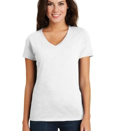 District Made DM3501    Ladies Super Slub   V-Neck Tee