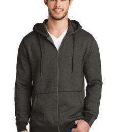 District Made 153 Mens Mini Stripe Full Zip Hoodie DM390