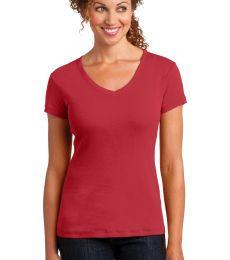 DM401 District Made™ Ladies Mini Rib V-Neck Tee