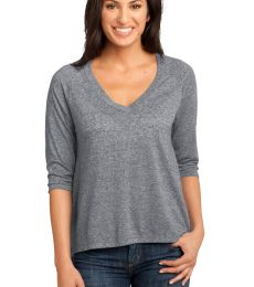 DM462 District Made Ladies Microburn V-Neck Raglan Tee