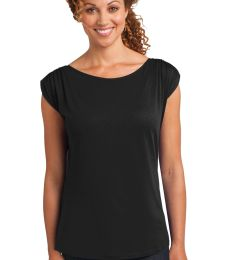 DM483 District Made™ Ladies Modal Blend Gathered Shoulder Tee