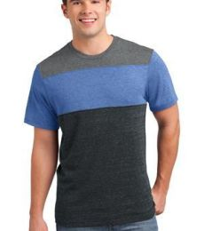 DT143 District® Young Mens Tri-Blend Pieced Crewneck Tee
