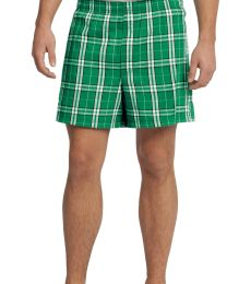 District DT1801 Young Mens Flannel Plaid Boxer