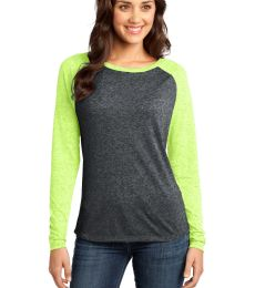 District DT262 Juniors Microburn Long Sleeve Raglan Tee