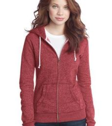 District Juniors Marled Fleece Full Zip Hoodie DT292