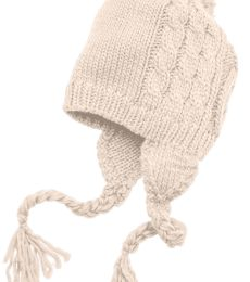 DT617 District Cabled Beanie with Pom
