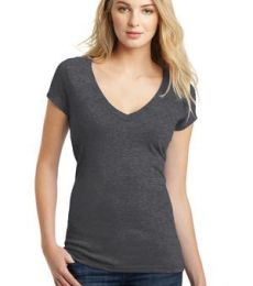 DT6502 District® Juniors Very Important Tee® Deep V-Neck