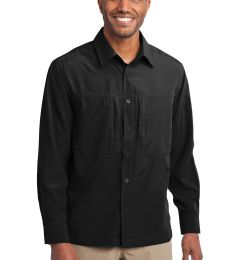 EB604 Eddie Bauer® - Long Sleeve Performance Travel Shirt