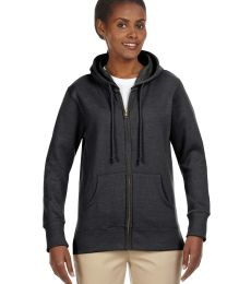 EC4580 econscious Ladies' 7 oz. Organic/Recycled Heathered Fleece Full-Zip Hoodie