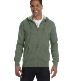 econscious EC5680 Men's 7 oz. Organic/Recycled Heathered Full-Zip Hood