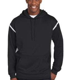 Sport Tek TST246 Sport-Tek Tall Tech Fleece Colorblock  Hooded Sweatshirt