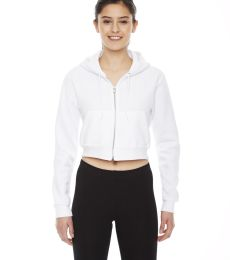 F397 Cropped Flex Fleece Zip Hoodie