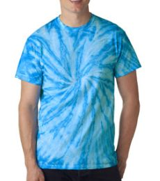 H1100 tie dye Adult Twist Pinwheel Tie-Dyed Tee