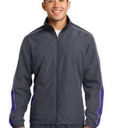 Sport Tek JST61 Sport-Tek Piped Colorblock Wind Jacket