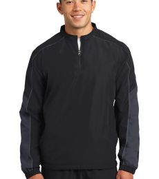 Sport Tek JST64 Sport-Tek Piped Colorblock 1/4-Zip Wind Shirt