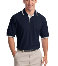 Port Authority Silk Touch153 Polo with Stripe Trim K501