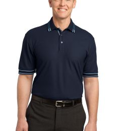Port Authority Silk Touch153 Tipped Polo K502
