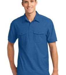 K557 Port Authority® Oxford Pique Double Pocket Polo.
