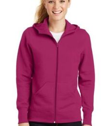 Sport Tek Ladies Full Zip Hooded Fleece Jacket L265