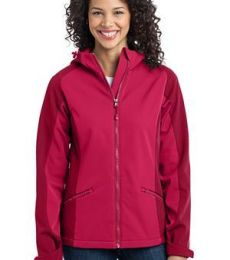 Port Authority Ladies Gradient Hooded Soft Shell Jacket L312