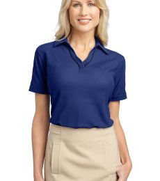 Port Authority Ladies Silk Touch153 Piped Polo L502