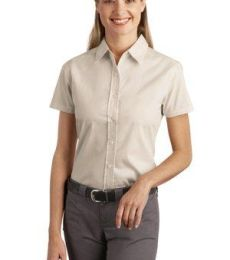 242 L507 CLOSEOUT Port Authority Ladies Short Sleeve Easy Care  Soil Resistant Shirt