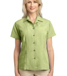 Port Authority Ladies Patterned Easy Care Camp Shirt L536