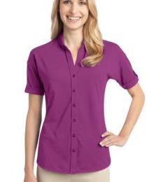 Port Authority L556    Ladies Stretch Pique Button-Front Shirt