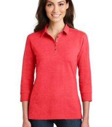 Port Authority L578    Ladies 3/4-Sleeve Meridian Cotton Blend Polo