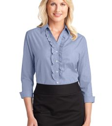 Port Authority Ladies Crosshatch Ruffle Easy Care Shirt L644