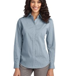 Port Authority L647    Ladies Fine Stripe Stretch Poplin Shirt
