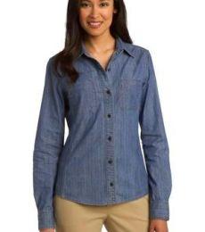 Port Authority L652    Ladies Patch Pockets Denim Shirt