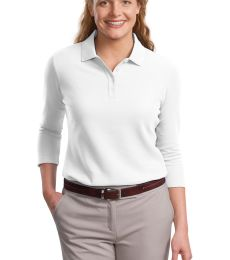 Port Authority Ladies EZCotton153 Pique 34 Sleeve Polo L801