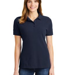 244 LKP1500 Port & Company Ladies Ring Spun Pique Polo