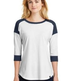 1001 LNEA104 New Era® Ladies Heritage Blend 3/4-Sleeve Baseball Raglan Tee